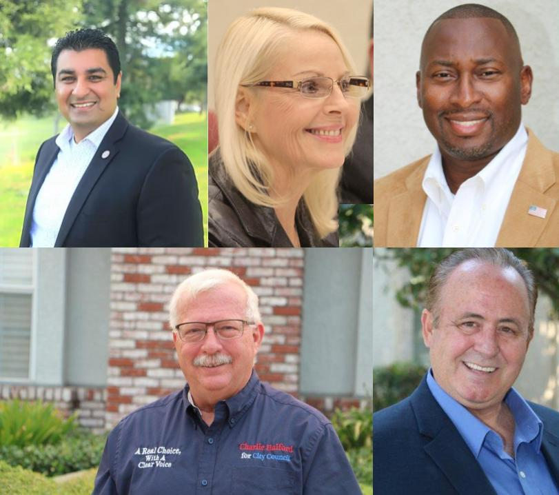 The five candidates for Manteca City Council