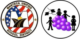 Logos of Manteca and Lodi Unified School Districts