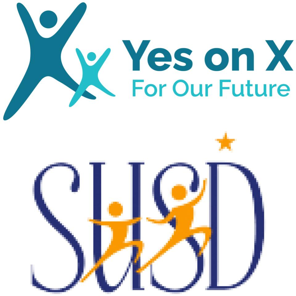SUSD/Yes on X logo